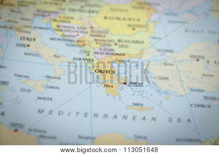 Greece On Map..