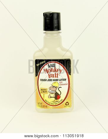 Bottle Of Anti Monkey Butt Hand Lotion
