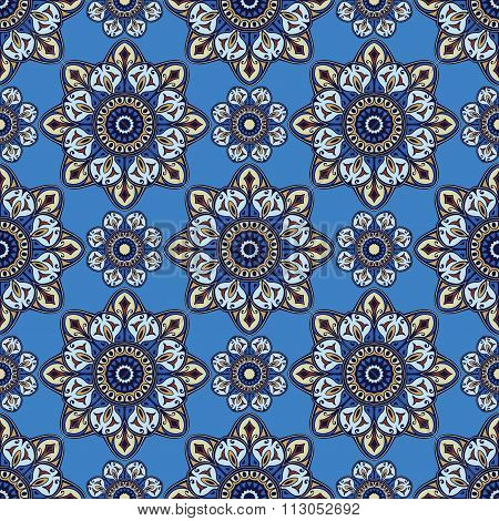 Ornament On A Blue Background.
