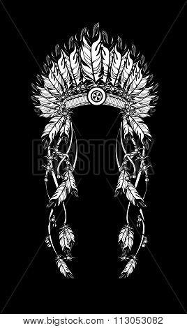 Feather Headdress Indians