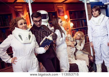 Saint Petersburg, RUSSIA - MAY 17, 2015: Cosplay Festival group of cosplayers TV shows Doctor Who