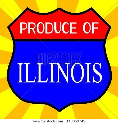 Produce Of Illinois Shield