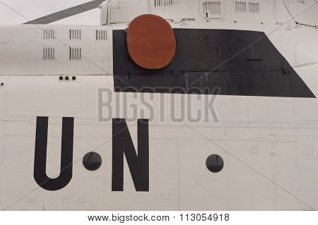 UN Logo on Helicopter