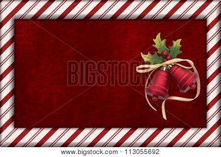 Red Plush Fur And Christmas Bells Christmas Background