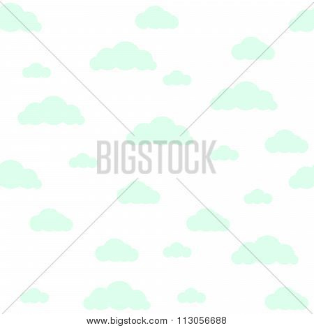 Baby vector seamless pattern. Light fun sky print for textile.