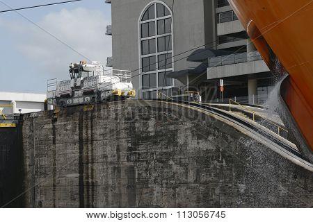 Miraflores Locks at Panama Canal, Panama