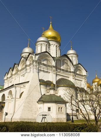 Moscow, Arkhangelskiy Cathedral In Kremlin