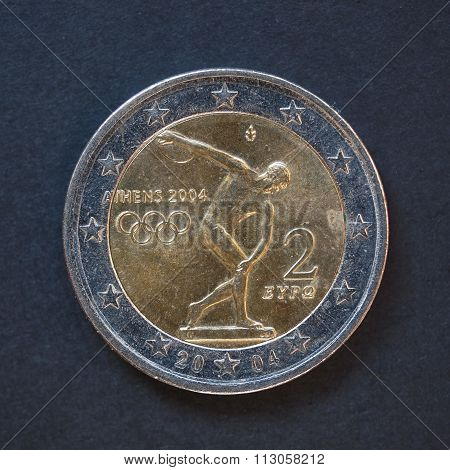 2 Euro Coin From Greece