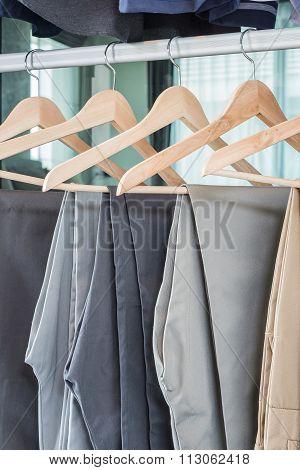 Plants Hanging On Coat Hanger