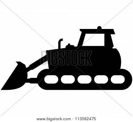 icon excavator shown on a white background