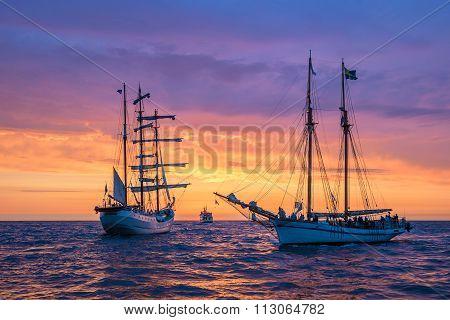 Sailing Ships On The Baltic Sea