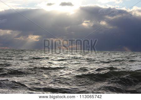 Sea Wawes Washed Dock Evening
