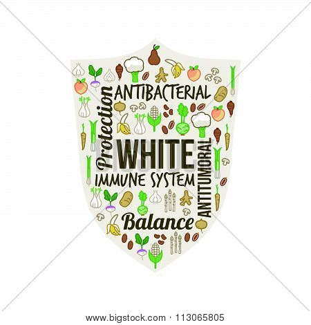 White Vegetables And Fruits
