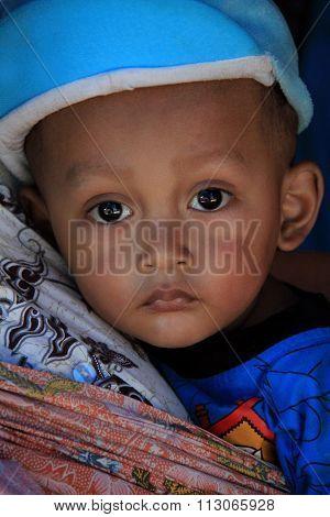 Little boy in Yogyakarta