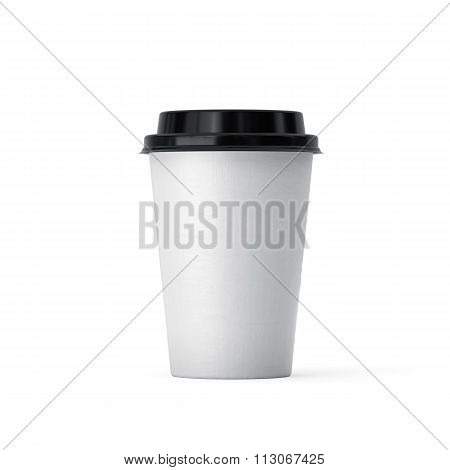 Coffee In Takeaway Cup Isolated