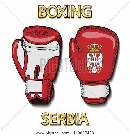 Boxing gloves-Serbia