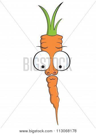 Carrot Cartoon Mascot Vector Vegan Vegetable raw food Character