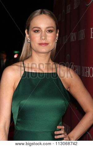 PALM SPRINGS - JAN 2:  Brie Larson at the 27th Palm Springs International Film Festival Gala at the Convention Center on January 2, 2016 in Palm Springs, CA