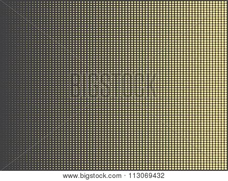 Gold Halftone Abstract Doted Rectangle Vector Background