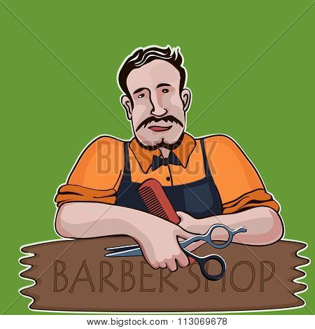 Hairstylist. Barber shop theme