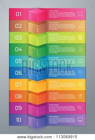 Vector illustration infographics ten options