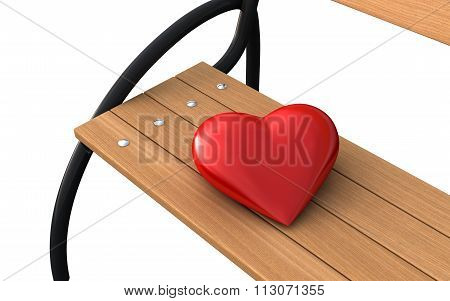 Bench And Heart