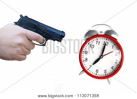 Clock And Pistol