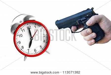 Clock And Pistol