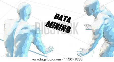 Data Mining Discussion and Business Meeting Concept Art