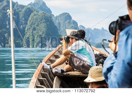 Taking Photo From Boat
