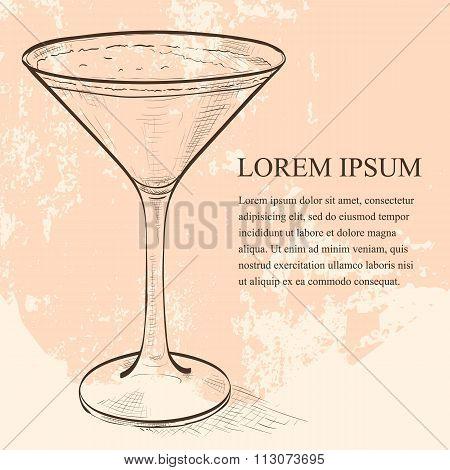 Porto Flip Cocktail scetch