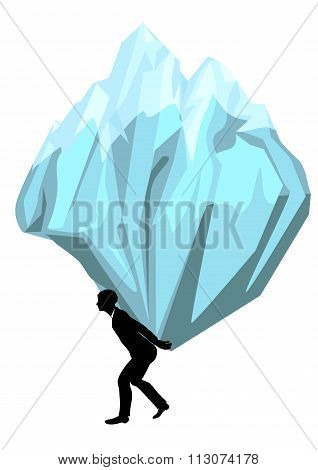 Carrying. Man With A Mountain