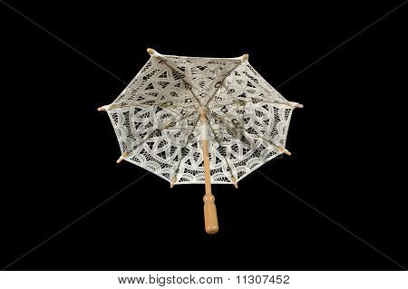 Lace Parasol White Closeup