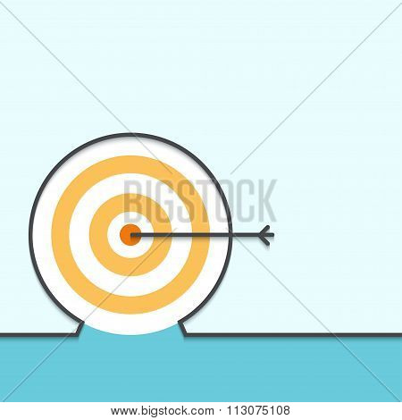 Vector outline flat design of achieving aims