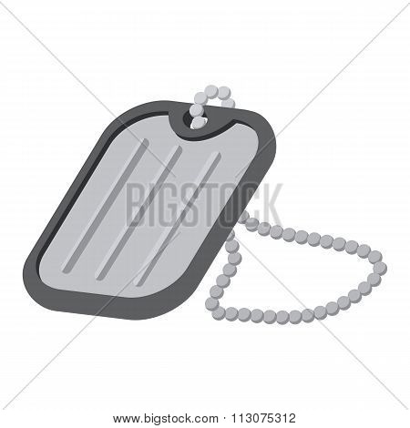 Military badge cartoon icon
