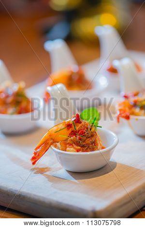 Spicy Shrimp Salad,thai Food , Thailand Famous Food