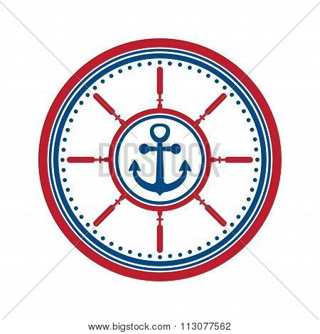 Anchor symbol isolated