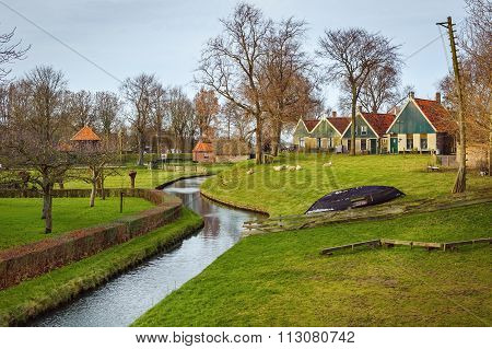 View of Open-air Museum On December 26, 2015 in Enkhuizen, The Netherlands
