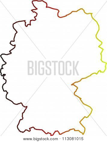 germany map shown on a white background
