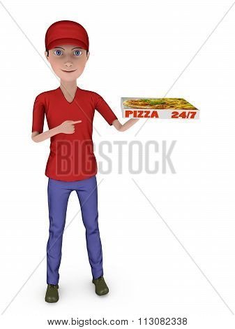Boy With A Pizza