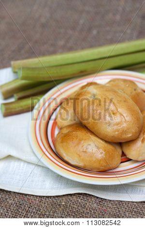 Sweet Patties With Rhubarb