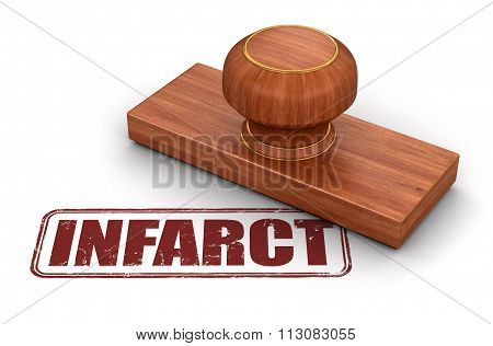 Rubber Stamp infarct.  Image with clipping path