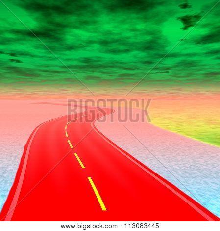 Crazy Psychedelic Road