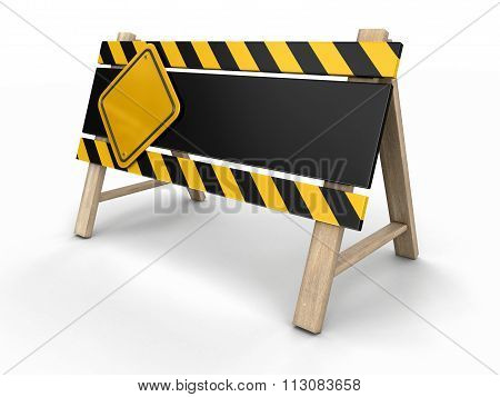 Barrier. Image with clipping path