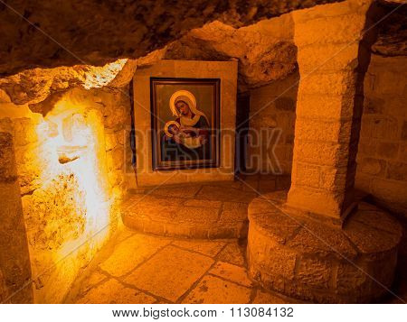 Bethlehem, Israel - July 12, 2015: Milk Grotto In Bethlehem, Israel. Milk Grotto Is A Place Where Th