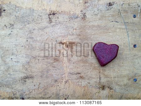 Red heart stone