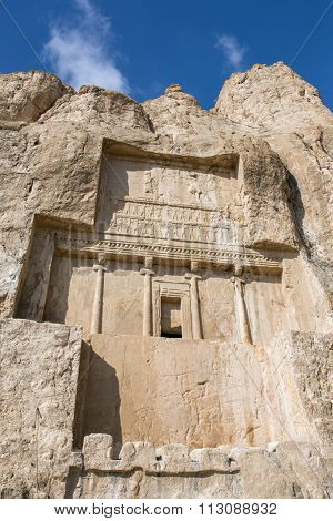 Naqsh-e Rustam, an ancient necropolis in Pars Province, Iran.