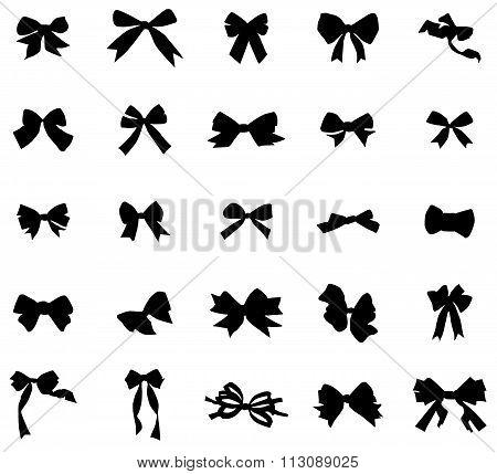 Vintage bows silhouettes set. Vintage bows silhouettes art. Vintage bows silhouettes web. Vintage bows silhouettes new. Vintage bows icons. Vintage bows icons set. Vintage bows icons art. Bows set