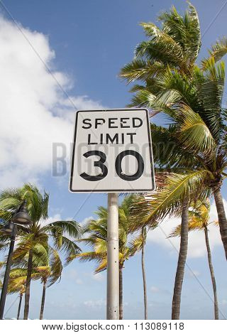 speed limit on the palm beach