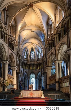 Inside The Canterbury Cathedral In England